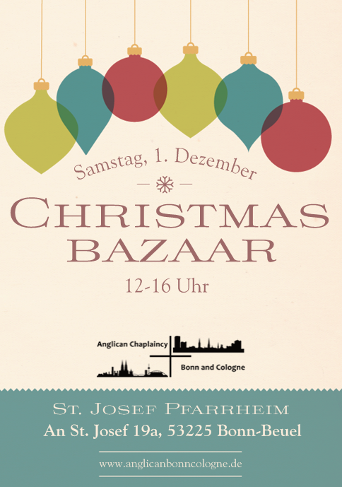 Christmas Bazaar flyer 2018